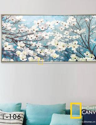 Bộ 3 Tranh Canvas Hoa Ban WT-106