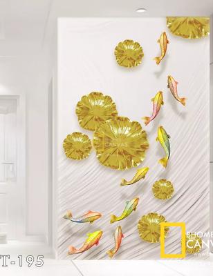 Tranh Canvas suối cá vàng WT-195