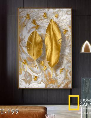 Tranh Canvas đàn chim vàng và lá vàng WT-199