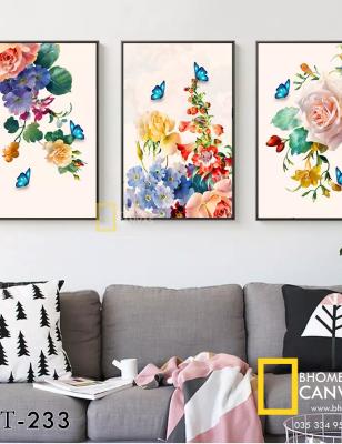 Bộ 3 Tranh Canvas Hoa Hồng WT-233