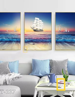 Bộ 3 Tranh Canvas Thuyền buồm WT-237