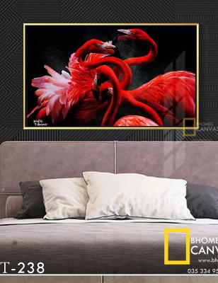 Tranh Canvas Thiên nga đỏ WT-238