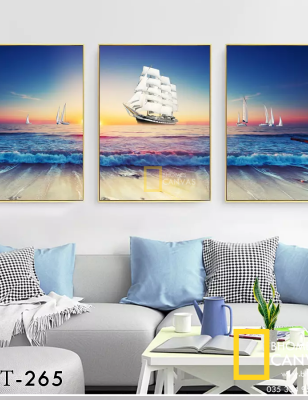 Bộ 3 Tranh Canvas Thuyền buồm WT-266