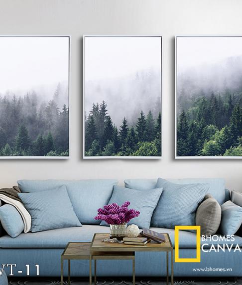 Bộ 3 tranh rừng sương mù WT-11