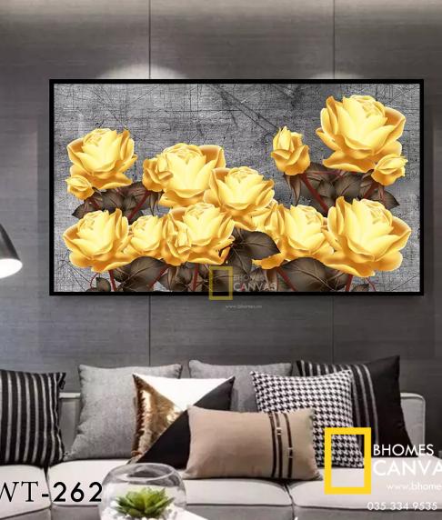 Tranh Canvas Hoa hồng vàng WT-262