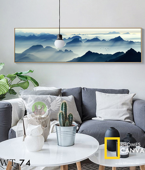Tranh Canvas Mây Núi WT-74