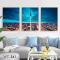 Bộ 3 Tranh Canvas Tháp truyền hình CN Tower WT-261
