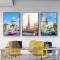 Bộ 3 Tranh Canvas Hoàng Thành phố châu Âu WT-278