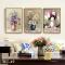 Bộ 3 tranh Canvas 3 Bình Hoa cổ điển WT-49