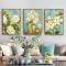 Bộ 3 tranh Canvas 3 Hoa trắng cổ điển WT-51