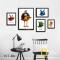 Bộ 5 tranh Canvas Chim Flappy Bird WT-86