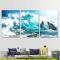 Bộ 3 Tranh Canvas Sóng biển WT-88